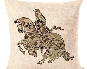 Renaissance Knight Pillow Pillow Cover Decorative Pillow Beige Fashion Home Decor  Throw Pillows