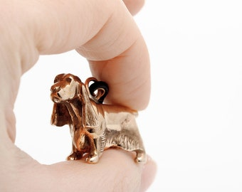 Vakkancs Cocker Spaniel bronze keychain (3D)