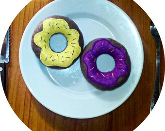 Soft toys donuts miniature food glaze