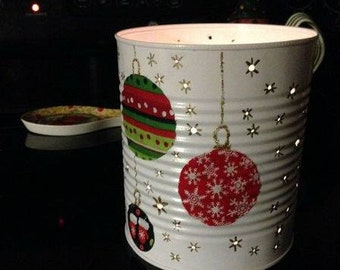 Christmas Ornament Tin Can Lantern