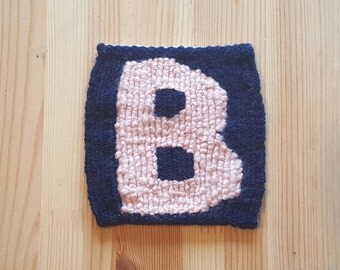 The Letter B (Block) - Handwoven Monogram Tapestry