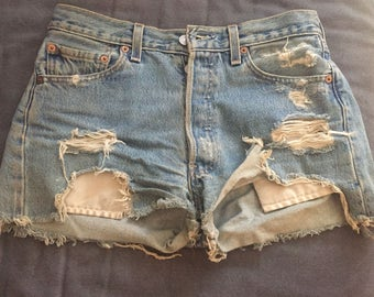Vintage Levi's Denim Shorts - Destroyed