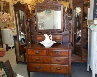 Gorgeous Antique 19th Century Vanity