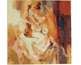 Beautiful violinist.  Diamond painting mosaic. Free UK delivery.