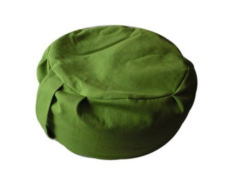 Organic Cotton Zafu - chartreuse - Meditation Cushion