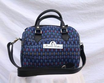 Handmade Handbags with leather and guatemalan fabric