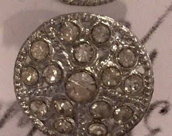 Vintage Rhinestone buttons. Great buttons from the 1930's.
