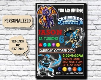 Skylanders / Skylanders Invitation / Skylanders Birthday / Skylanders Party / Skylanders Birthday Party Invitation / Skylanders Card Invite