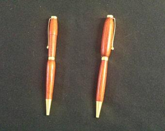 High-gloss padouk ballpoint pen