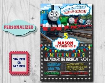 thomas train invites | etsy, Party invitations