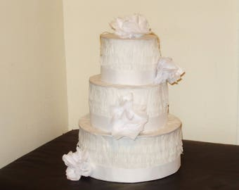 White wedding cake pinata. Birthday cake pinata.