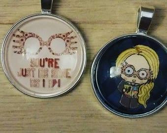 Luna Lovegood pendant - Harry Potter pendant - Harry Potter key chain - Harry Potter Necklace - Harry Potter gift - Personalized jewelry