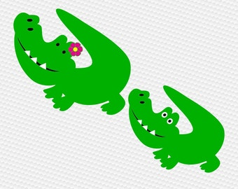 Alligator gator SVG Clipart Cut Files Silhouette Cameo Svg for Cricut and Vinyl File cutting Digital cuts file DXF Png Pdf Eps vector