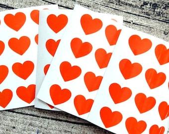 48 Vinyl stickers, Stickers vinyl, Vinyl, Stickers, Vinyl hearts Orange vinyl