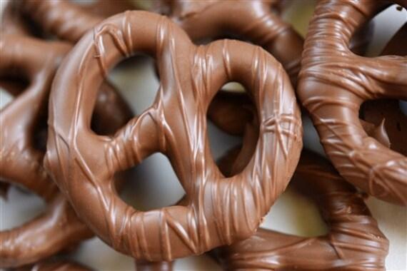 1 dozen Nut Free Chocolate Covered pretzels - Peanut Allergy Friendly