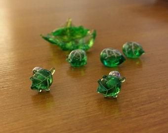 Leaf Glass Piercing by urinamu(glasstree)
