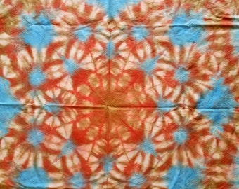 "36"" x 44"" Rust Blue Tapestry"