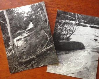 2 vintage original Australian waterfall photographs c1970s