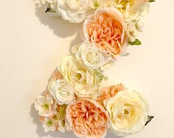 Faux Floral Letter