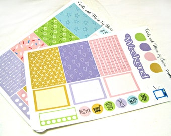 Planner Stickers - Weekly Planner Stickers - Happy Planner Stickers - Day Designer - Functional Stickers - Pastel Patterns