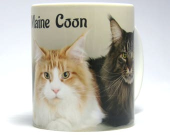 Maine Coon Mug, Cat Mug, Maine Coon Cat Gift, Birthday Gift, Ideal Present for Cat Lover