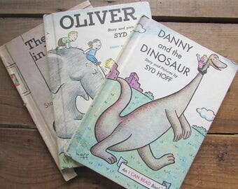 Children's Book Set Sid Hoff Picture Books Oliver Danny and the DInsaur Horse in Harry's Room  I Can Read Book