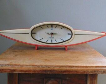 Amazing RARE Vintage Retro 1960s Atomic Clock/ Space Age Clock/  Bakelite Alarm Clock - Unique Clock - Collectible Clock
