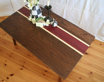 "Coffee table ""Black velvet"" in the mid-century-style"