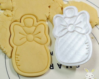 Baby Bottle with Ribbon Cookie Cutter and Stamp