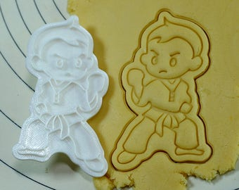 Taekwondo Boy Cookie Cutter and Stamp