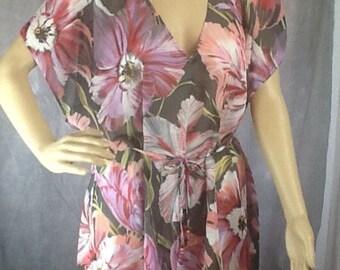 Chiffon tunic coverup beach dress top 10/14