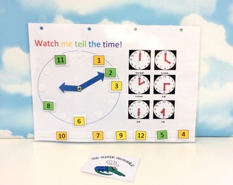 Telling the time, Moving clock, Teaching resource, Removable numbers, KS1, KS2, Nursery, Reception, Clocks, Time