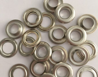 "100 # 0 ( 1/4"" ) Nickel plated solid brass self piercing grommets&washers"