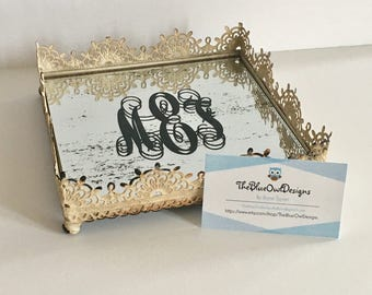 Personalized Mirror Tray