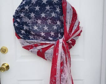 Distressed Flag Wreath