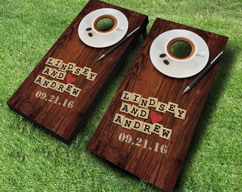 Couples Wedding Cornhole Boards