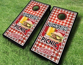 Family Picnic Cornhole Boards