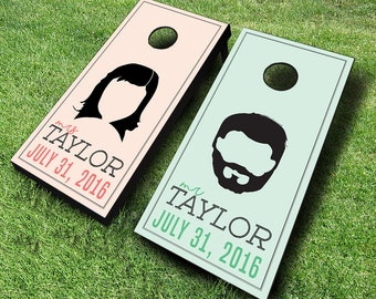 Wedding Hair Styles Cornhole Boards