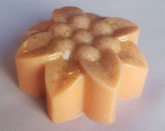 Peach Floral Goat's Milk and Oatmeal Soap
