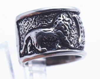 Lion Erebuni V2 Sterling Silver Ring