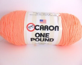 Peach - Caron One Pound worsted weight 100% acrylic yarn- 4069