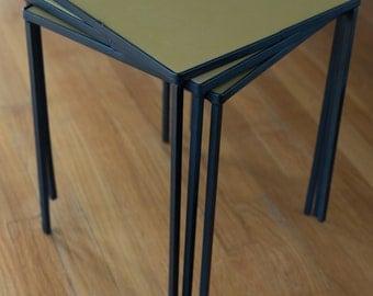 Vintage Frederick Weinberg Nesting Side Tables - SET OF 3