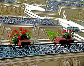 balconies in paris, architectural sculpture, design