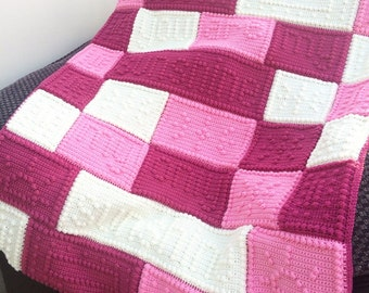 Crochet baby blanket, You are my sunshine my only sunshine, Cot blanket, Baby girl blanket, New baby gift, Pink baby blanket, Baby shower