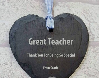 FREE P&P great teacher gift, small love heart hanger