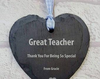 FREE P&P great teacher gift, small love heart hanger