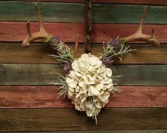 Antler art floral arrangement