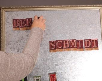 magnetic Alphabet, alphabet fridge magnets, interior design, small magnetic letters, door sign, mom's day gift, magnetic letters for kids