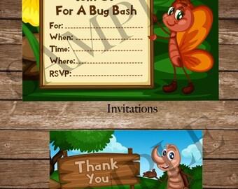 Bug Bash Party Printables - DIGITAL