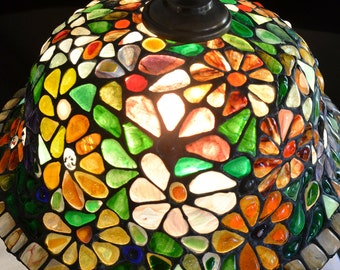 Mosaics Stained Glass Tiffany Lamp Spring, Decorative Tiffany Lamp, Bedside Lamp